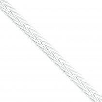 Sterling Silver 7 inch 8.75 mm Magic Herringbone Chain Bracelet
