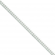 Sterling Silver 8 inch 5.00 mm Domed Curb Chain Bracelet
