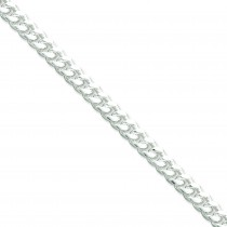 Sterling Silver 8 inch 7.00 mm Domed Curb Chain Bracelet