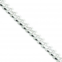 Sterling Silver 8 inch 10.50 mm Domed Curb Chain Bracelet