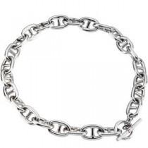 Sterling Silver 8 inch   Link Chain Bracelet