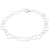 Sterling Silver 7.50 inch  Twisted Link Chain Bracelet