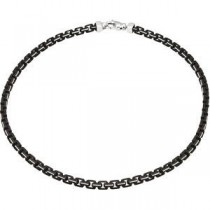 Sterling Silver 22 inch   Fancy Chain Necklace