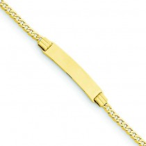 6 Curb Link Child ID Bracelet in 14k Yellow Gold