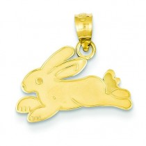 Rabbit Charm in 14k Yellow Gold