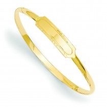 Slip-on Baby ID Bangle Bracelet in 14k Yellow Gold