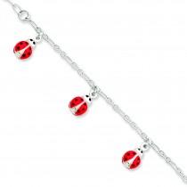 Enameled Baby Charm Bracelet in Sterling Silver