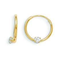 Endless CZ Hoop Earrings in 14k Yellow Gold