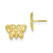 Butterfly Earrings in 14k Yellow Gold