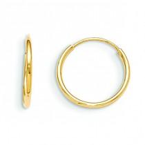 Endless Hoop Earrings in 14k Yellow Gold
