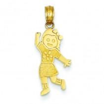 Girl Pendant in 14k Yellow Gold