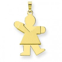 Girl Charm in 14k Yellow Gold