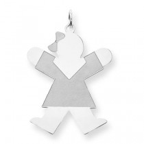 Diamond Cut Joy Kid Charm in Sterling Silver
