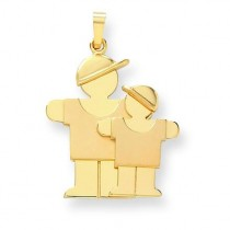 Big Boy Little Boy Engraveable Charm in 14k Yellow Gold