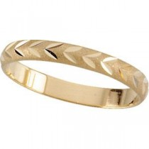 Diamond Cut Joint Ring in 14k White Gold