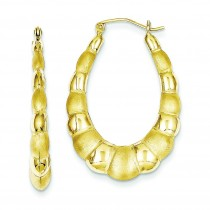 Satin Hollow Fancy Earrings in 10k Yellow Gold