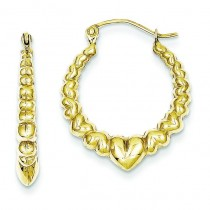 Hollow Classic Earrings in 10k Yellow Gold