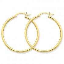 Round Hoop Earrings in 10k Yellow Gold