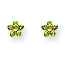 August Crystal Birthstone Earrings in Non Metal