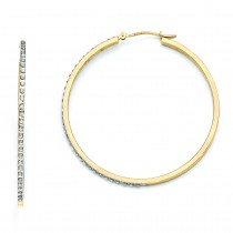 Diamond Fascination Large Round Hinged Hoop Earrings in 14k Yellow Gold (0.01 Ct. tw.)