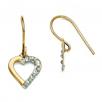 Diamond Fascination Heart Earrings in 14k Yellow Gold (0.01 Ct. tw.) (0.01 Ct. tw.)