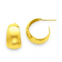 Small Hoop Earrings in 14k Yellow Gold