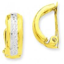 Non-pierced Earrings in 14k Yellow Gold