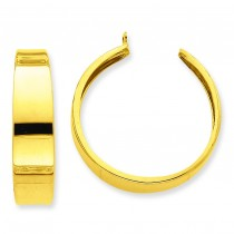 Hoop Earrings Jackets in 14k Yellow Gold