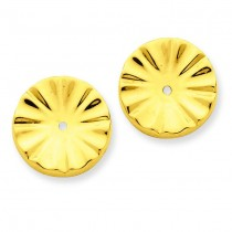 Sunburst Earrings Jackets in 14k Yellow Gold