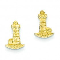 Lighthouse Earrings in 14k Yellow Gold