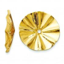 Fancy Earrings Jackets in 14k Yellow Gold