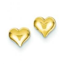 Heart Earrings in 14k Yellow Gold