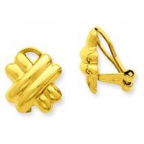 Non-pierced X Earrings in 14k Yellow Gold