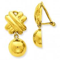 Non-pierced Fancy Ball Earrings in 14k Yellow Gold