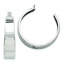 Hoop Earrings Jackets in 14k White Gold