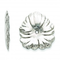 Floral Earring Jackets in 14k White Gold