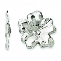 Floral Earrings Jackets in 14k White Gold