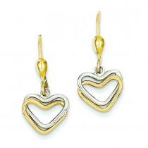 Heart Leverback Dan in 14k Two-tone Gold