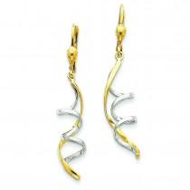 Spiral Dangle Earrings in 14k Two-tone Gold