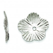 Fancy Earrings Jackets in 14k White Gold