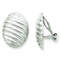 Omega Clip Non Pierced Earrings in 14k White Gold