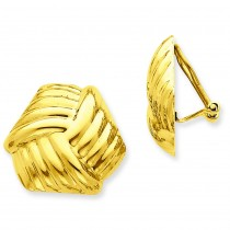 Omega Clip Non-pierced Earrings in 14k Yellow Gold