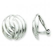 Omega Clip Non-pierced Earrings in 14k White Gold