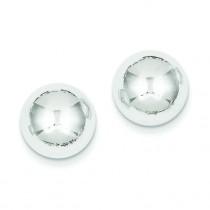 Half Ball Post Earrings in 14k White Gold