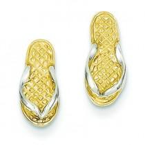 Flip Flop Earrings in 14k Yellow Gold