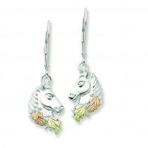 Small Horesehead Leverback Earrings in Sterling Silver