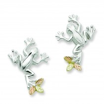 Frog Post Earrings in Sterling Silver