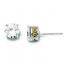 X O CZ Stud Earrings in Sterling Silver