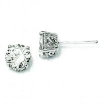CZ Stud Earrings in Sterling Silver
