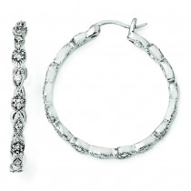 CZ Hoop Earrings in Sterling Silver